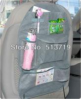 Free shipping Grey Car Back Seat Organizer Auto Travel Multi-Pocket Storage Bag Holder