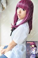 ANGEL BEATS Medium Nakamura Yuri Cosplay Pony Wigs JF