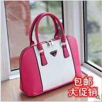 2013 fashion shell color block handbag fashion summer sweet bag beautiful woman