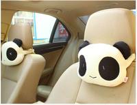 Cute Panda Cartoon Plush Auto Car Seat Headrest Neck Rest Cushion Pillow 2pcs