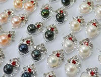 4 color Cultured Pearl Earrings Stud Earrings Wedding Bridal Exquisite Earrings Fresh Water Fashion Jewelry for Charm Women