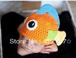 Free shipping handmade beautiful baby hat handmade crochet photography props newbornchristmas gift birthday gift(China (Mainland))