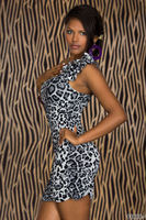 Free Shipping Sexy 4139 leopard  white  costom Tempation Womens  Lingerie Sheer Underwear with Thong G Sting Sleepwear