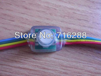 Free Shipping LED pixel node,100pcs/lot DC5V input 50pcs a string WS2801 RGB full LED pixel module