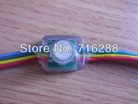 Free Shipping LED pixel node,100pcs/lot DC5V input 50pcs a string WS2801 RGB full LED pixel module