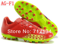 Free Shipping Red Black Electricity AG Football Shoes Men's Ball Boots Outdoor Cleats Design US6.5-12Size Top Grade Quality BNIB