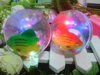 5.5cm6 . 5cm stunning light ball bouncing ball bouncing ball colorful flash ball  (Free shipping)