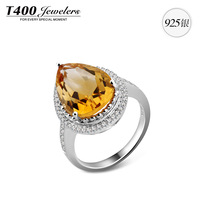 T400 brand jewelry,made with Natural Citrine and AAA zircon,for women,925 sterling silver,November Birthstone#4315,free shipping