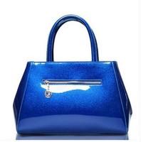 2013 spring and summer elegant women's handbag fashion trend leather handbag mirror japanned messenger  shoulder bag