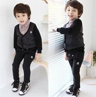 New Kids Lovely Boys Clothing Cotton Plaid Collar Overcoat Coats Jackets Sz2-7Y