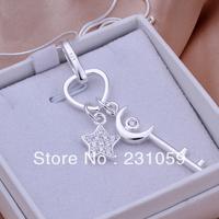 Hot P326 Wholesale 925 silver pendant necklace fashion jewelry Necklace 925 star necklace 925 sterling silver charm necklace