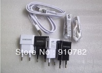 USB Charger 100%  2A US Plug Wall Charger + MICRO USB Cable For Samsung Galaxy S4 I9500 Galaxy S3 I9300 Galaxy Note2 N7100