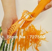 Free Shipping 2pcs/Lot Hot Colors Vegetable Fruit Peeler Parer Julienne Cutter Slicer Kitchen Easy Tools Gadgets Helper