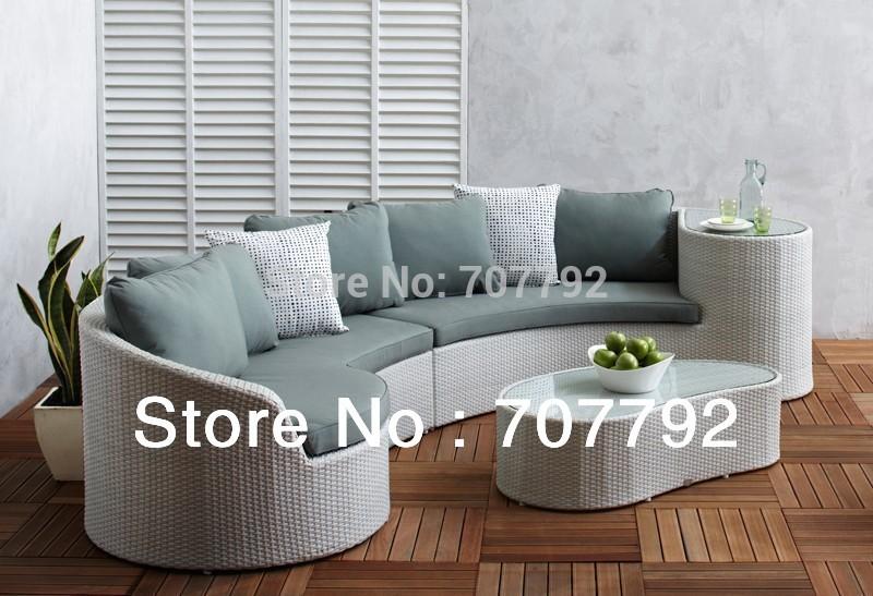 Hot Sale!! 2015 The Most Popular Garden Furniture Rattan Sectional Sofa(China (Mainland))