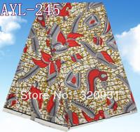 Popular modern design african wax print cotton fabric
