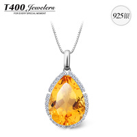 New! T400 Brand Jewelry,made with Top Natural Citrine, for women,925 sterling silver,November Birthstone#10597,free shipping