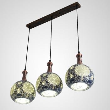 Antique lamps chinese style lamp classical pendant light restaurant lamp pendant lamp three head pendant light ceramic light