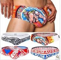 AUS023 2014 new arrival  fashion men's swimwear brief swimwear 8 colors 4 size