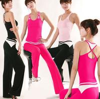 Sexy lady yoga clothes set dance wear sports yoga clothing vest fitness clothing dance yoga female yoga clothes sleeveless 173