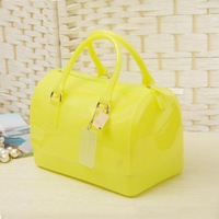 2013 jelly bag candy color transparent bags beach bag crystal small women's handbag Free shipping