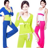 Summer yoga clothes set fashion 2013 lady yoga clothing yoga blue slim fitness dance wear 3 pieces yoga wear dance clothing 165