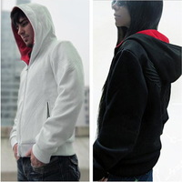 2013 New Autumn Hot Sale Assassins Creed III 3 Desmond Miles Hoodie Top Coat Jacket Cosplay Costume Gift, Free Shipping