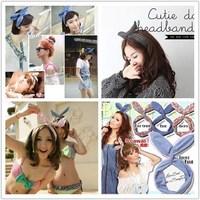 Wholesale 20pcs mix style Cute Korea Korean Girl Rabbit Ear Ribbon Chiffon Headband Hair Band