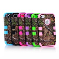 10pcs Tree Branch Design Hybrid Rugged Rubber Matte Hard Case Cover w/Screen Guard+Free Shipping