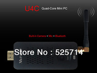 Measy U4C Android4.2 Quad-core Bluetooth TV Stick 4G Wi-Fi Android TV Box Mini PC free shipping wholesale # 160005