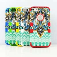 5PCS MIX 3-Piece Butterfly Tribal Pattern High Impact Combo Case Cover For iPhone 5 5G Bohemian tribes