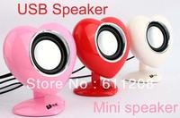 Small notebook speakers heart-shaped mini speaker mini audio, heart-shaped small heavy bass stereo speakers