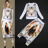 Newest design wholesale top quality popular hot selling laides trendy suits( Long T-shirt +Harem Pants)