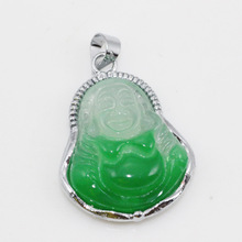 LM-Z002 New arrive Chinese carved green jade pendant jewelry necklace fashion jewelry  (China (Mainland))