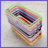 200pcs/lot For iPhone 5C Colorful TPU Bumper Case