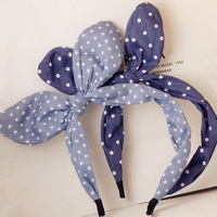 New Korea Fashion Hair Accessories Bunny Ears Denim Hairbands for Women