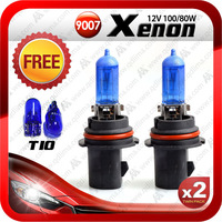 Free shipping 2pcs 9007 hb5 xenon white halogen headlight bulb 8000K 12V 100/80W
