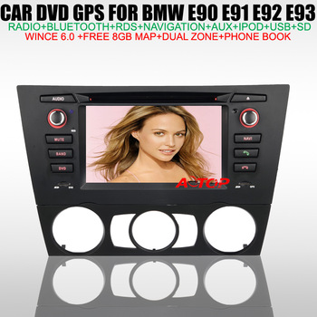 "HD 6.2"" Touch Screen Car DVD GPS for BMW 3 Series E90 E91 E92 E93 build in GPS NAVI Steering Wheel Control Canbus Free 8GB Map"