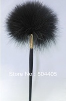 black feather fingerprint brush