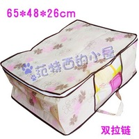 Free shipping 5 pieces/lot Non-Woven Chinese redbud flower Visual quilt clothes organizer storage bag bedding dust-proof  bags