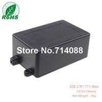 10 piece a lot power supply black plastic housing 70*45*30mm 2.76*1.77*1.18inch