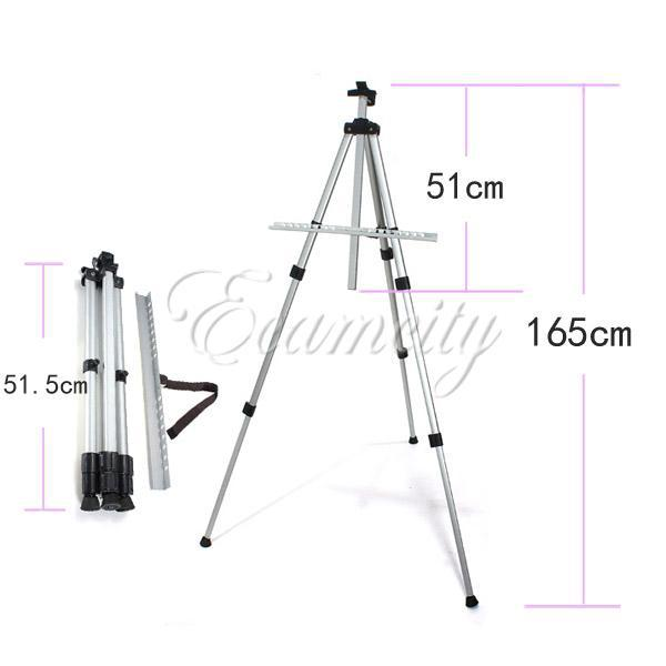 Free Shipping Aluminium Alloy Folding Artist Painting Easel Display Stand Art Sketch Exhibition Adjustable Tripod + Carry Bag(China (Mainland))