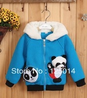 Outerwear 2013 new Korean version of Winnie the boys winter hat and velvet jacket coat