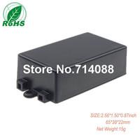 (10 pcs)black plastic housing for power supply 65*38*22mm 2.56*1.50*0.87inch