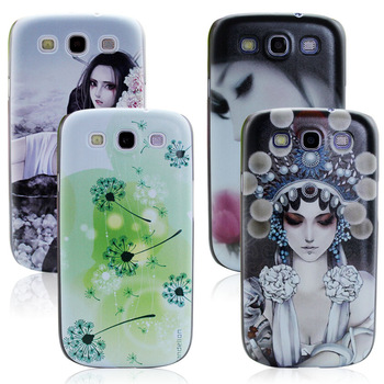 For samsung   i9300 colored drawing chinese style small fresh i9308 cell phone case opshacom scrub protective case