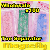 [PFL-055]Wholesale 100xSoft Form Toe Separator/Finger Spacer For Manicure Pedicure Nail Tool+Free Shipping
