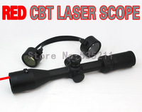 Vism 3-9x42 Full-Size Scope with Integrated Red Laser and Mil-Dot Reticle Hunting sights  airsoft hunting hunting rifle scope