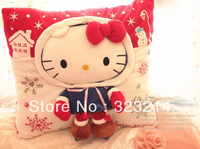 2013 free shipping  38*38CM Hello kitty pad / kitty carpet mat doormat  soft cushion cute cartoon winter pad for kids