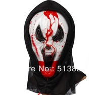 Drop Shipping  5Pieces/ Lots Halloween masks, Party Masks, bloody horror masks, blood sac, Skull Ghosts , Bloody mask 190g