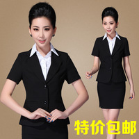 Work wear women's skirt summer formal set female front desk uniform  free shipping