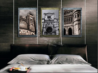 3 Piece Free Shipping Hot Sell Home Decorative  Art canvas   Prints Abstract  painting majestic   European architecture artwork